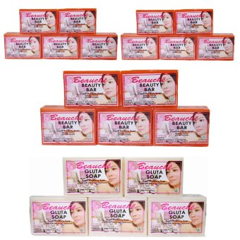 Harga Beauche Beauty Bar Soap 90g Set of 15 with 5 Gluta Soaps 90gms
