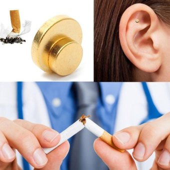 Harga Moonar 2pcs Zero Smoke Auricular Therapy Quit Smoking Magnets - intl