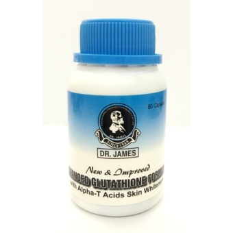 Dr. James Glutathione Skin Whitening Capsules Bottle of 60 (New Bottle) Brown Price Philippines