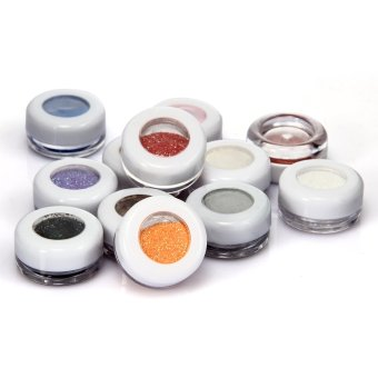 Harga 12 Glitter Mineral Eyeshadow Pigments Powder Professional