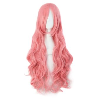 La Vie Long Curly Big Wave Women's Wigs (Pink) Price Philippines