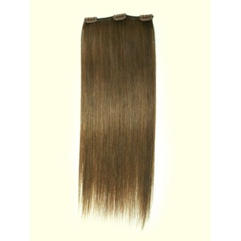 Harga Keira Clip On Hair Extensions 16 Inches Long Bra Length 3 Clips (Light Ash Brown)