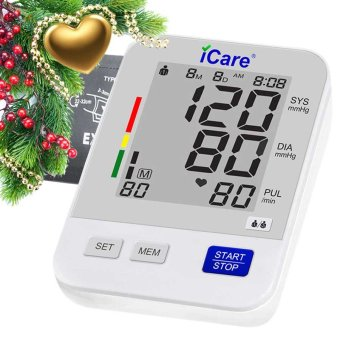 Harga iCare®301 Accurate Upper Arm Blood Pressure Monitor and Heart Rate Monitor (White)