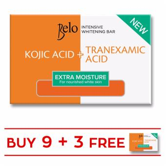 Harga BELO INTENSIVE WHITENING EXTRA MOISTURE BAR 65G Set of 9 with Free 3 Bars