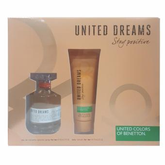 Harga United Colors of Benetton United Dreams Stay Positive Eau de Toilette 80ml + Body Lotion 75ml Set