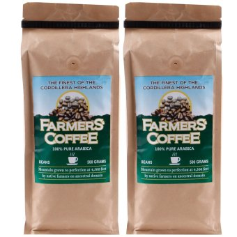 Harga Farmers' Coffee 100% Pure Arabica Beans 500 grams Pack of 2