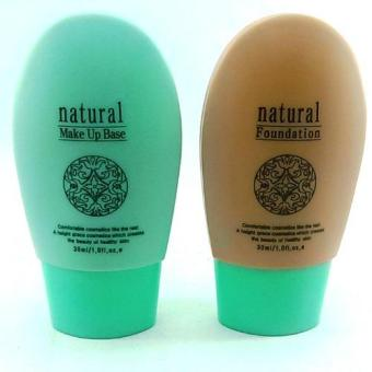 Harga Natural Foundation with Natural Make Up Base 60ml Korean Cosmetics