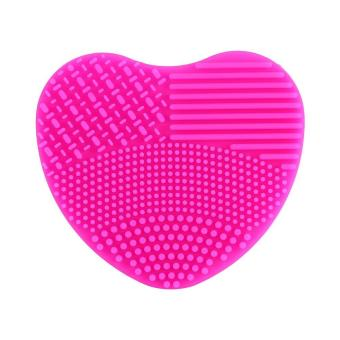 Silicone Cosmetic Powder Remove Washing Scrubber Makeup Brush Cleaner (Rose) - intl Price Philippines