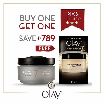 Olay Total Effects Night Cream 50g with Free Olay Total Effects Eye Cream 15ml Price Philippines