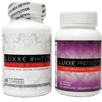 Harga Luxxe White Enhanced Glutathione 60 capsules and Luxxe Protect Grapeseed Extract 30 capsules
