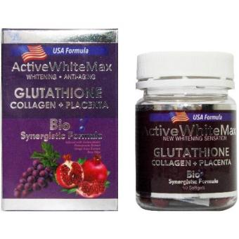 Active White Max Glutathione Glutathione with Collagen and Placenta 1050mg with FREE Glutathione Precursors Complex Price Philippines