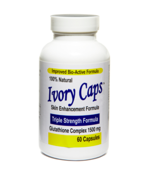 Ivory Caps Skin Enhancement Glutathione Complex 1500mg TripleStrength Formula 60 Capsules, Bottle of 1
