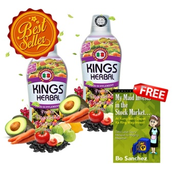 KINGS Herbal Fruits, Vegetables & Herb Fusion 750ml (2 Bottles)with free My Maid Invests in the Stock Market (At Kung Bakit DapatKa Ring Mag-Invest!) by Bo Sanchez