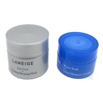 Korean Cosmetics Laneige Time Freeze Firming Sleeping Mask (10ml)With Laneige Water Bank Ultra Moisture Cream (10ml)