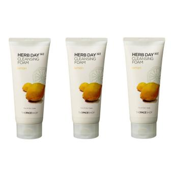 Korean Cosmetics The FaceShop Herb Day 365 Cleansing Foam Special Set