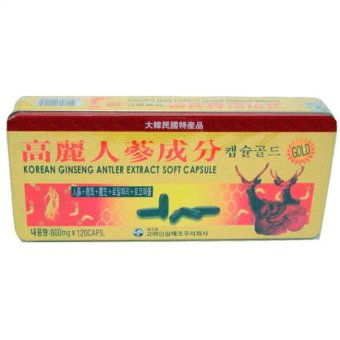 Korean Ginseng Antler Extract 800mg Softgels Blister Pack of 120