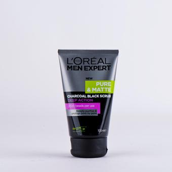 L'oreal Men Expert Charcoal Black Scrub 100ml