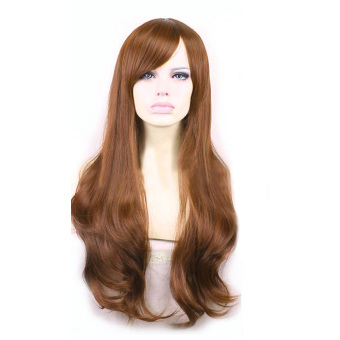 La Vie Soft Hair Sexy Long Wave Synthetic Wig Full Lace CosplayWomen Wigs(Yellow)