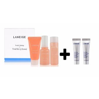 Laneige Fresh Calming Trial Kit (3 items) With Laneige Time Freeze Intensive Cream (10ml) Korean Cosmetics