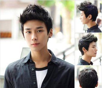 Men wig/ spiky hairstyle/ rambut palsu - intl