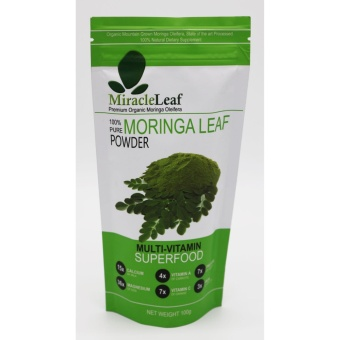 Miracle Leaf 100% Pure Moringa Leaf Powder (100g) Price Philippines