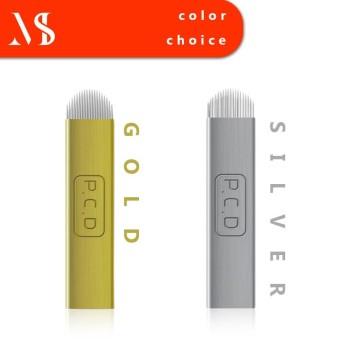 Misshe 50pcs Manual Microblading Needles 19U Tebori Tattoo Blades For Permanent Makeup Eyebrows Silver - intl
