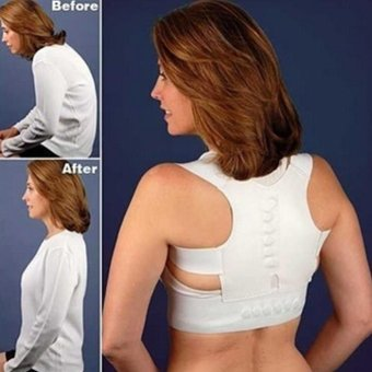 Moonar Adjustable magnetic posture support corrector back pain brace belt (XL) - intl