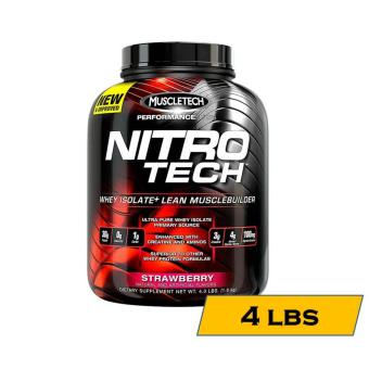 MuscleTech Nitro-Tech Performance Series Muscle Building Whey Protein Shake - 4lbs - Strawberry