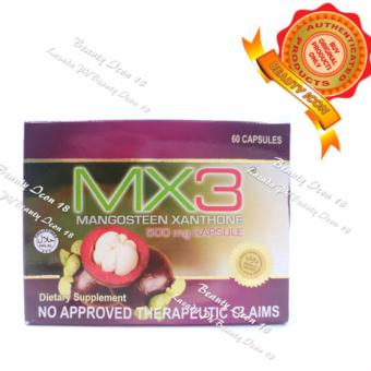 MX3 Mangosteen Xanthone Dietary Supplement 500mg 60 Capsules