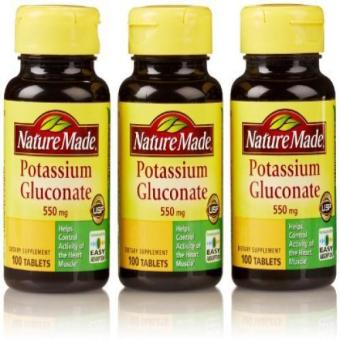 Nature Made Potassium Gluconate 550 Mg100 Count (3 Pack) Price Philippines
