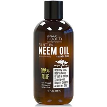 Neem Oil Organic & Wild Crafted Pure Cold Pressed Unrefined Cosmetic Grade 12 oz for Skincare, Hair Care, and Natural Bug Repellent by Oleavine Price Philippines