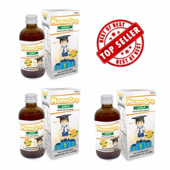 Nhance Memogro Multivitamins for Kids 1-12Yrs.Old (Set of 3)