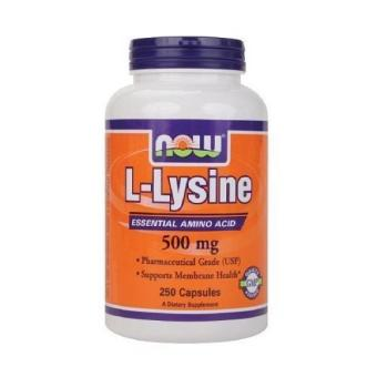NOW Foods L-Lysine500mgCapsules 250 ea