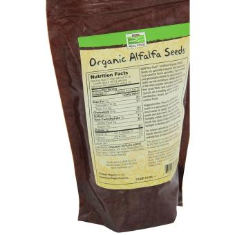 Now Foods Organic Alfalfa Seeds- 12-Ounce