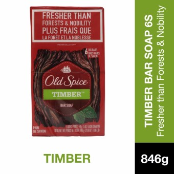 Old Spice Timber Bar Soap 5oz 6's Pack