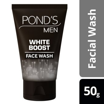PONDS MEN FACIAL WASH WHITE BOOST 50G .