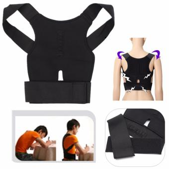 Posture Corrector Magnetic Back Shoulder Brace Belt Adjustable Therapy Straight
