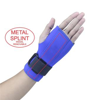 PROCARE PROTECT #1030L Hand and Wrist Splint Brace with Metal Splint Support, Left Hand (Blue)