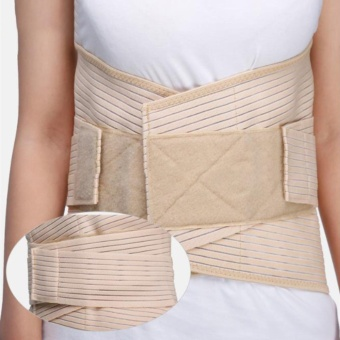 Professional Medical Grade Lumbosacral Back Support BreathableCompression Lumbar Support Brace Belt Protect the Waist XL - intl