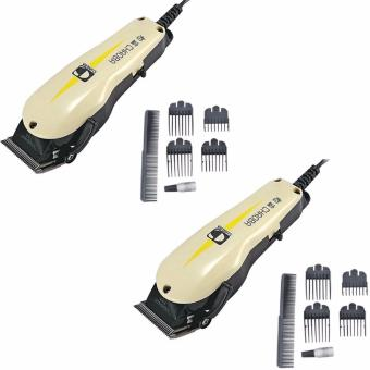 Professional Razor Electric Hair Trimmer Clipper with Comb Guides#0124 Set of 2