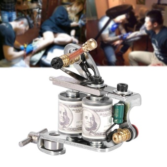 Professional Tattoo Machine Reel Film Coils Frame For Shader Supply Equipment Sliver - intl