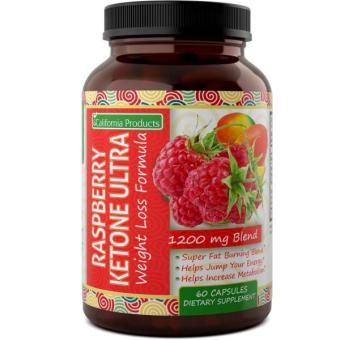 Pure & Natural Raspberry Ketones - Weight Loss Pills For Quick Weight Loss - Boost Metabolism + Immune System - Appetite Suppressant - Weight Loss Supplements For Men & Women By California Products