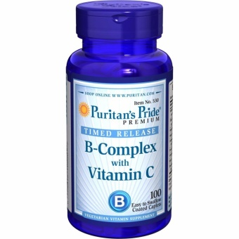 Puritan's Pride B-Complex with Vitamin C Timed Release, 100 Caplets