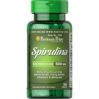 Puritan's Pride Spirulina Superfood Organic 500mg, 100 Tablets