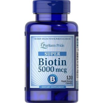 Puritan's Pride Super Biotin 5000 mcg, 120 Softgels