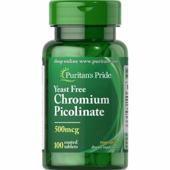 Puritan's Pride Yeast Free Chromium Picolinate 500 mcg, 100 Tablets