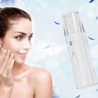 Rechargeable Nano Water Mist Sprayer Atomiser Facial Steamer SkinCare Spa Humidifier - intl