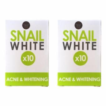 Snail White 10x Glutathione Acne Whitening 70g Soap Bundle of 2