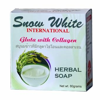 Snow White International Gluta with Collagen Herbal Soap 80 grams