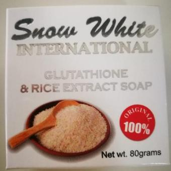Snow White International Glutathione and Rice Extract Soap 80g